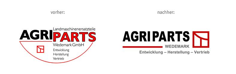 Logo Redesign vorher/nachher