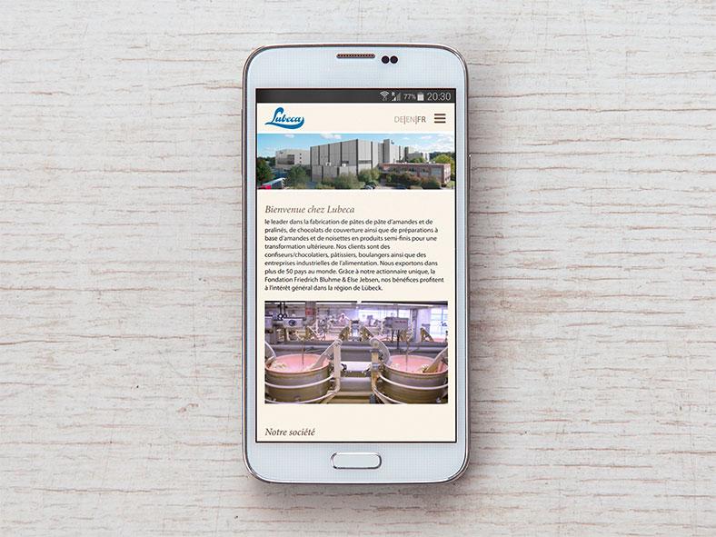 Lubeca Website mobil