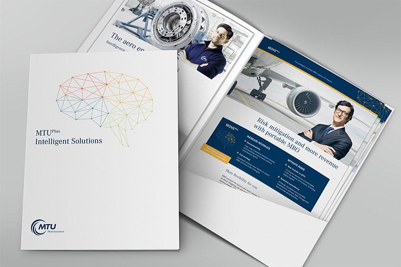 MTU Plus Mappe mit Broschüre und Produktblättern