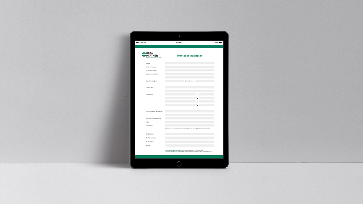 Montageeinsatzplan Interaktives PDF