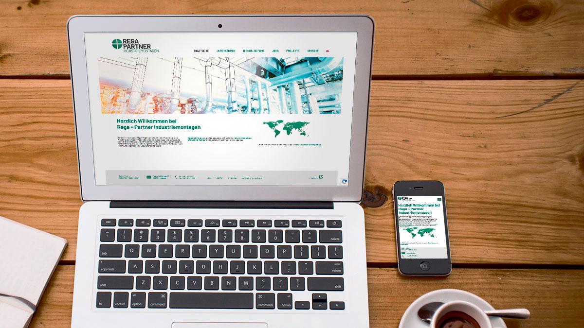 Rega+Partner Webseite